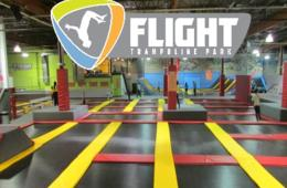 $7 for One-Hour FLIGHT TRAMPOLINE PARK Open Jump Session - Springfield ($15 Value - 54% Off) - Option for 5 Pack of Kid Flight Times Ages 0-6!