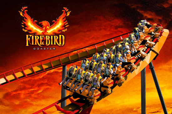 Firebird Six Flags Roller Coaster